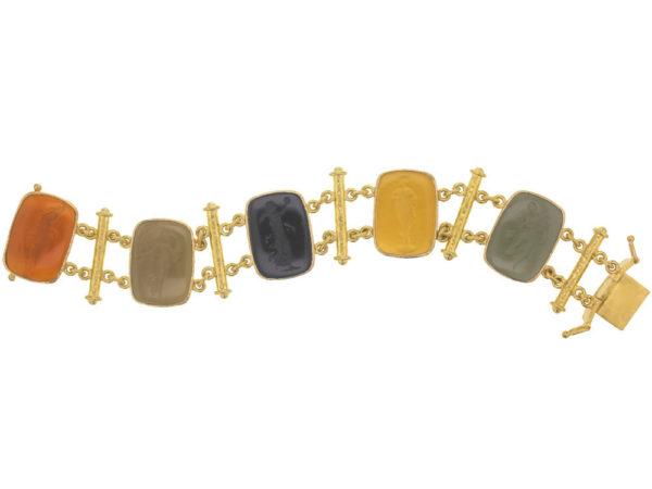 """Elizabeth Locke Venetian Glass Intaglio """"Muse"""" Bracelet thumbnail"""