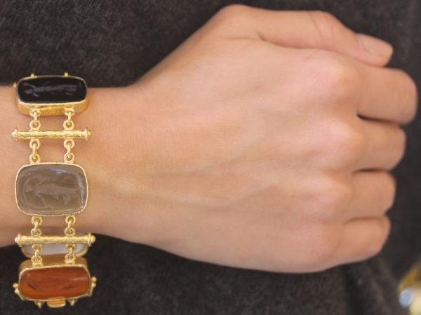 """Elizabeth Locke Venetian Glass Intaglio """"Muse"""" Bracelet"""