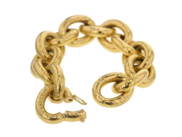Elizabeth Locke Large Oval Link Bracelet model shot #2