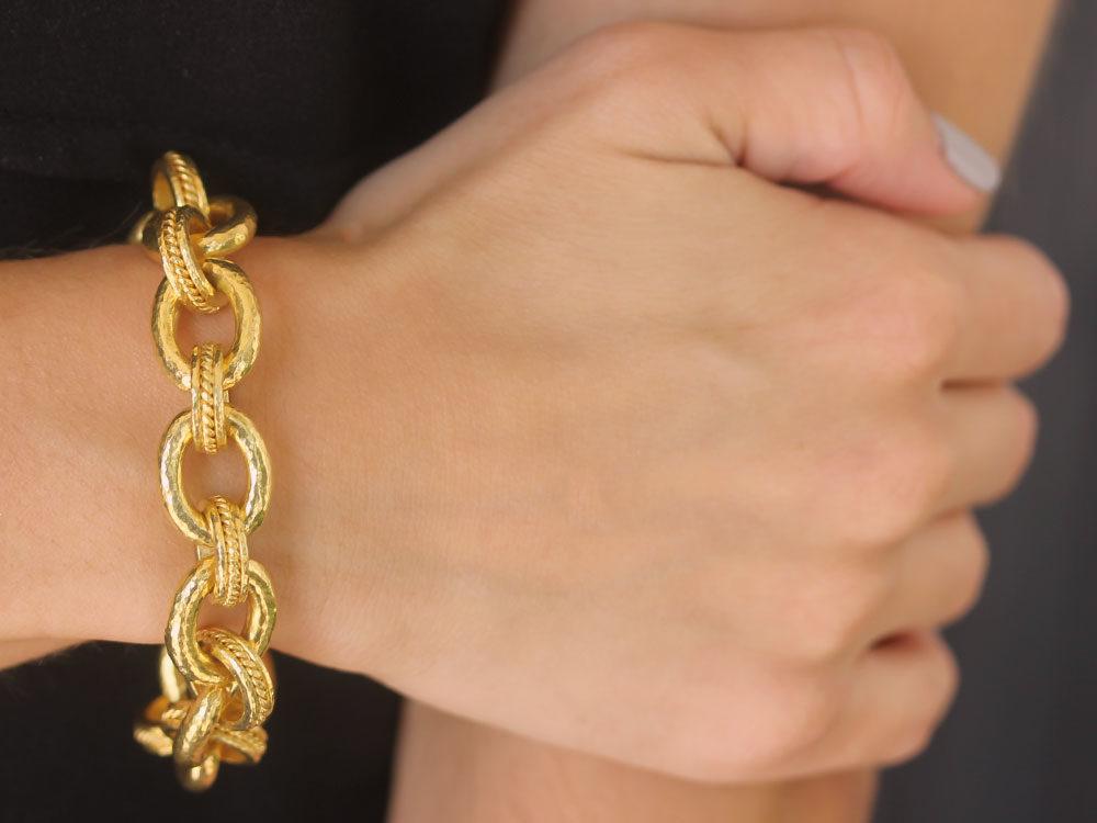 Elizabeth Locke Volterra 19K Gold Link Bracelet 73GQdkwG4