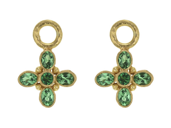 "Elizabeth Locke Faceted Tsavorite ""Iris"" Charms thumbnail"