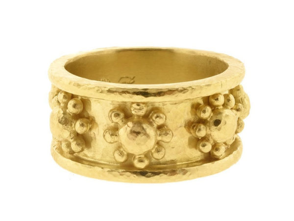 "Elizabeth Locke Gold ""Daisy"" Flat Band Ring thumbnail"