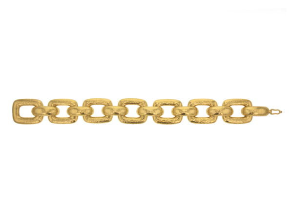 "Elizabeth Locke ""Livorno"" Rectangular Link Bracelet model shot #2"
