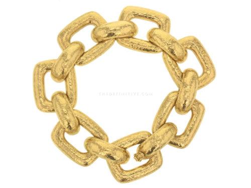 "Elizabeth Locke ""Livorno"" Rectangular Link Bracelet"