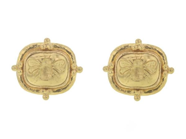 "Elizabeth Locke Triad Cushion ""Fat Bee"" Earrings thumbnail"