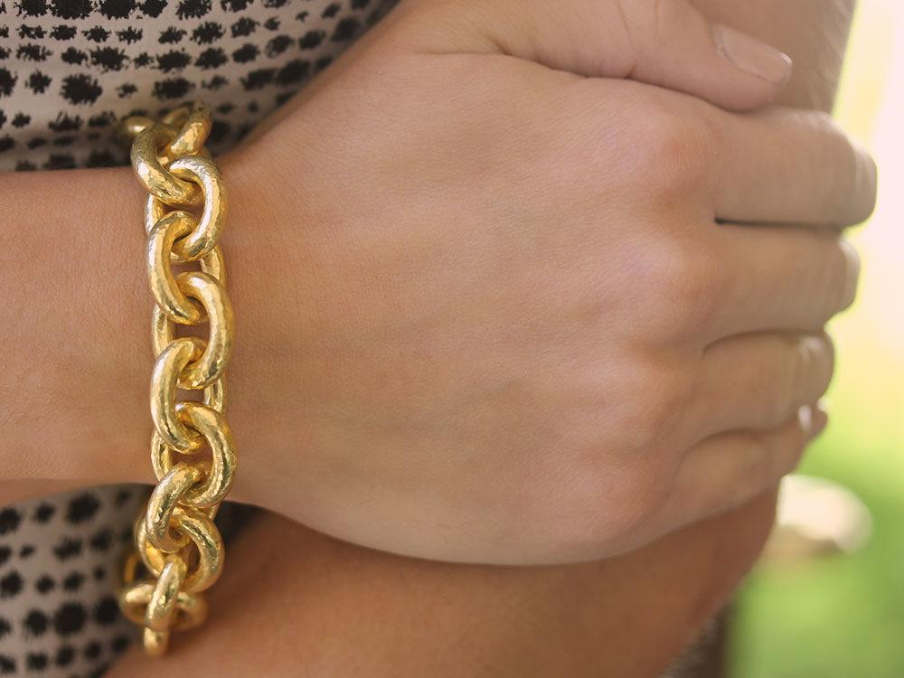 Elizabeth Locke Volterra 19K Gold Link Bracelet J7lmSj