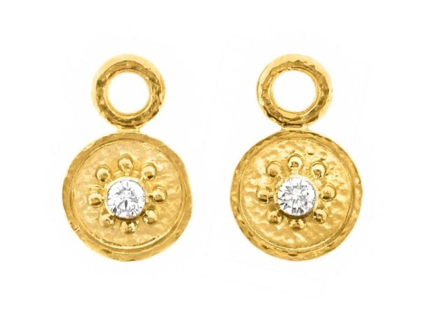 Elizabeth Locke Daisy Diamond Center Earring Charms thumbnail