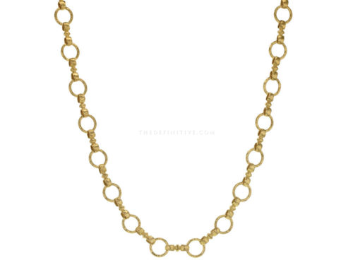 "Elizabeth Locke 21″ ""Celtic"" Hammered Link Necklace"