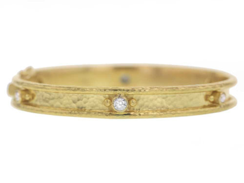 Elizabeth Locke Thin Diamond Bangle