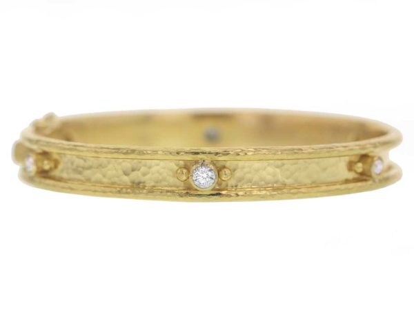 Elizabeth Locke Diamond Bangle Bracelet thumbnail