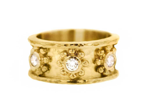 "Elizabeth Locke ""Daisy"" Diamond Flat Band Ring"