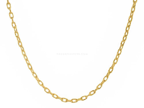 Elizabeth Locke 17″ Hammered Very Fine Link Necklace