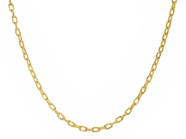 "Elizabeth Locke 17"" Hammered Very Fine Link Necklace thumbnail"