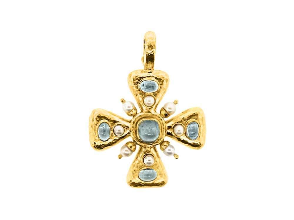lyst product pendant maltese metallic null jewelry konstantino cross square in