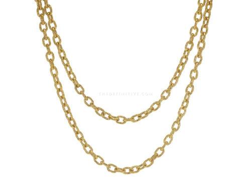 "Elizabeth Locke 35″ ""Orvieto"" Link Necklace"