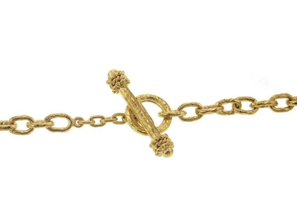 "Elizabeth Locke 35"" ""Orvieto"" Link Necklace  model shot #3"