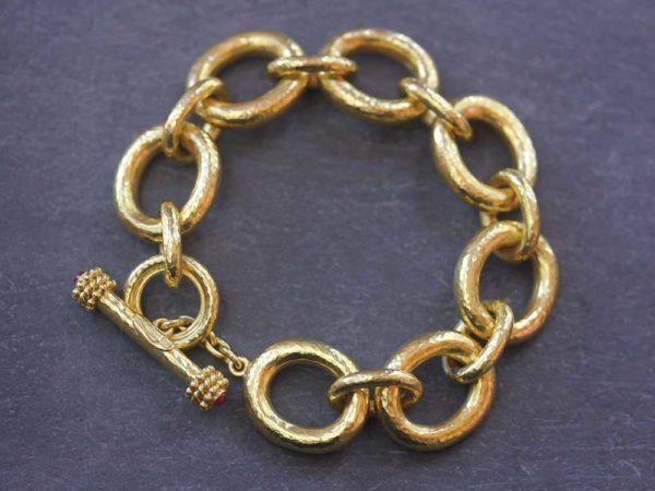 "Elizabeth Locke Oval Link ""Padova"" Bracelet model shot #2"