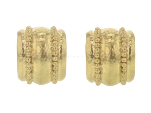 Elizabeth Locke Granulated Amalfi Hoop Earrings