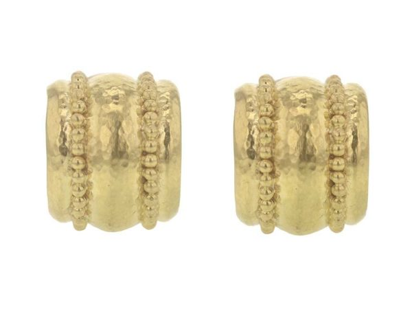 Elizabeth Locke Granulated Amalfi Hoop Earrings thumbnail