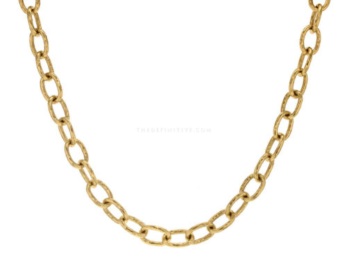 "Elizabeth Locke 17″ ""Volterra"" Hammered Small Link Necklace"