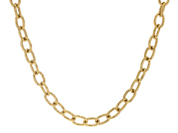"Elizabeth Locke 17"" ""Volterra"" Hammered Small Link Necklace thumbnail"