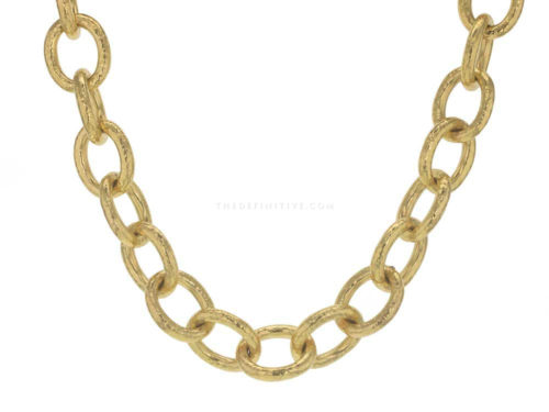 "Elizabeth Locke 17″ ""Volterra"" Hammered Link Necklace"