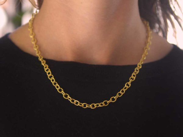 "Elizabeth Locke 17"" ""Tiny Sicilian"" Link Necklace"