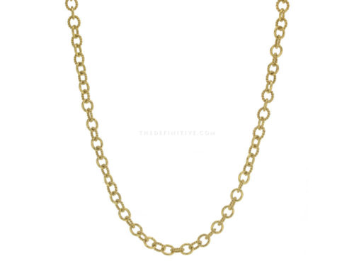 "Elizabeth Locke 17″ ""Tiny Sicilian"" Link Necklace"