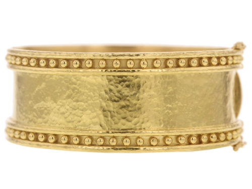 Elizabeth Locke Wide Bangle With Granulation