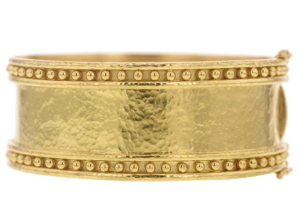 Elizabeth Locke Wide Bangle With Granulation thumbnail