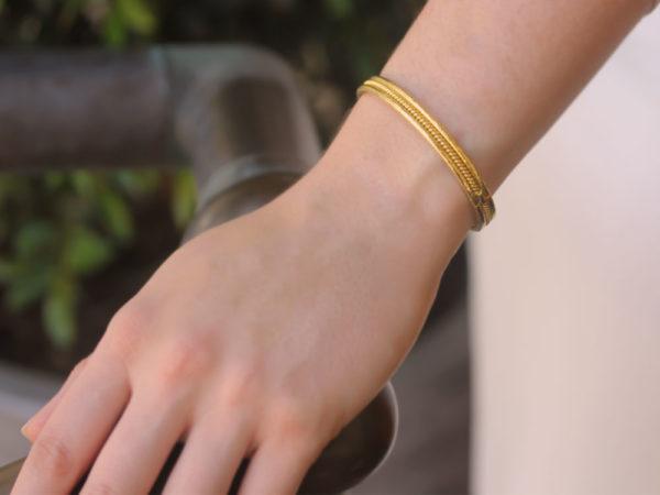 "Elizabeth Locke ""Thin"" Braided Bangle Bracelet"