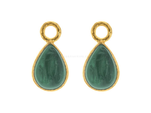 "Elizabeth Locke Pine Venetian Glass Intaglio ""Small Pear Shape"" Earring Charms"