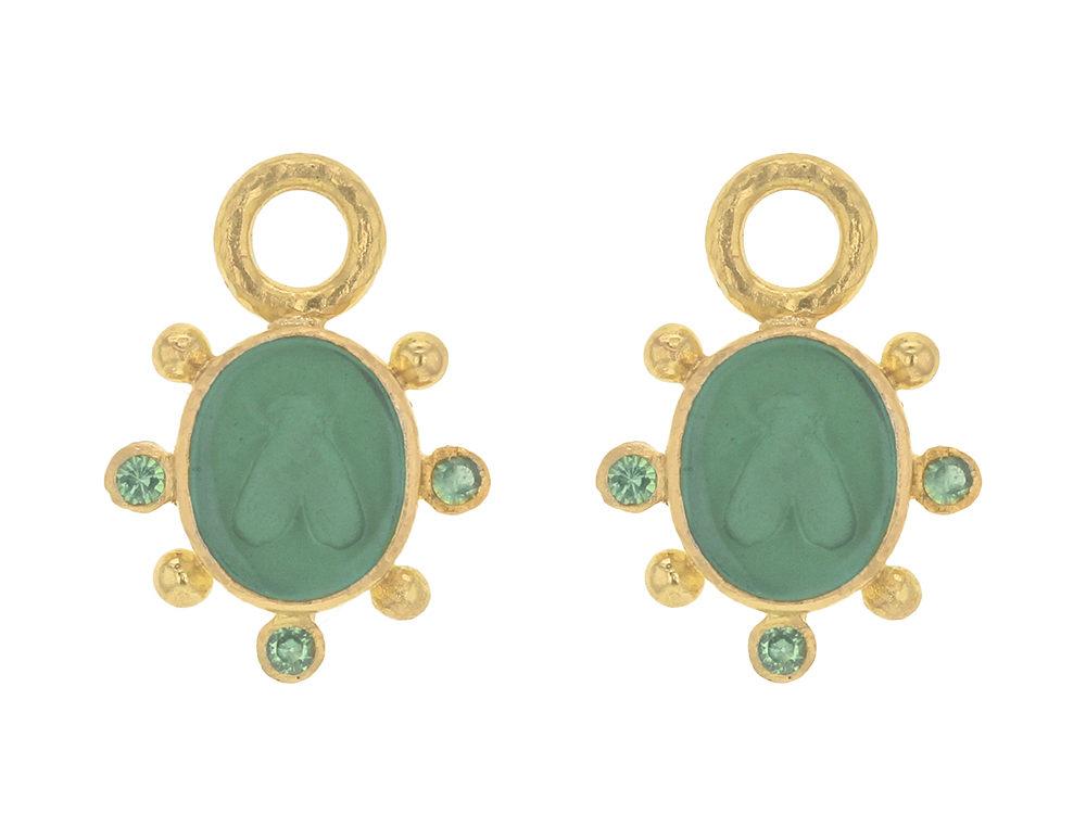 Elizabeth Locke 19K Mosca Charms for Earrings J0m2WZt