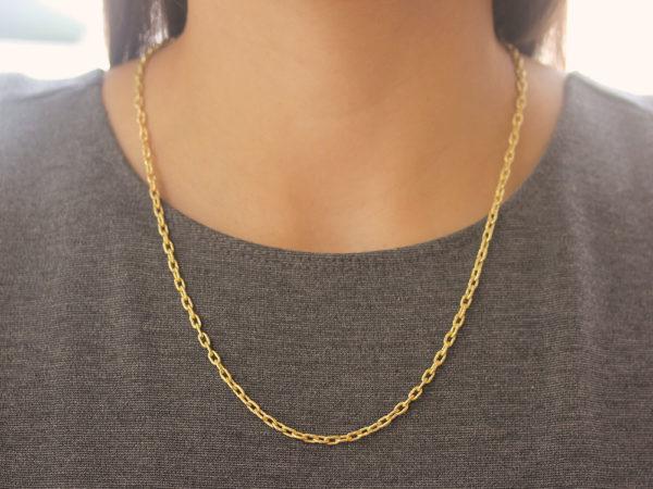 "Elizabeth Locke 21"" Handmade Gold Chain With Toggle"