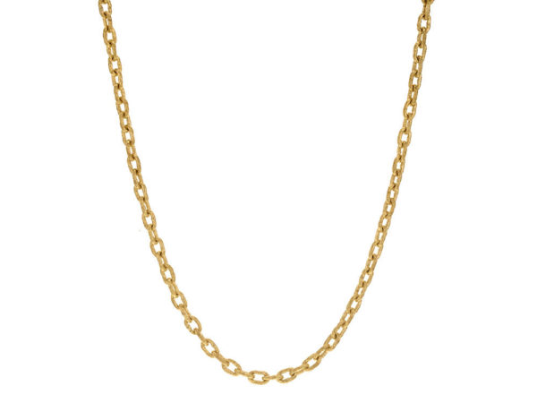 "Elizabeth Locke 21"" Handmade Gold Chain With Toggle thumbnail"