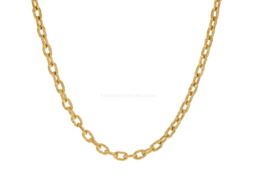 Elizabeth Locke 21″ Handmade Gold Chain With Toggle