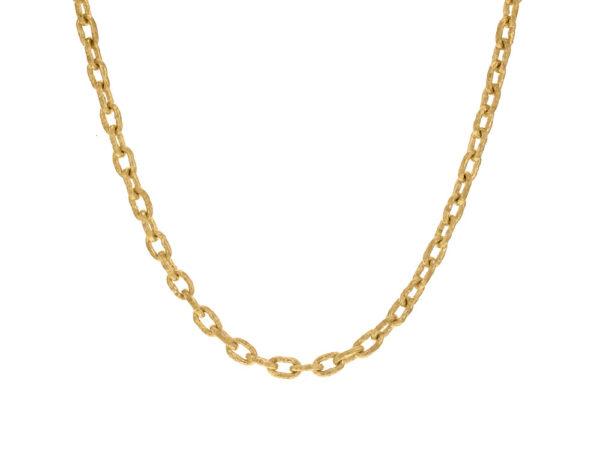 "Elizabeth Locke 21"" Handmade Gold Chain With Toggle model shot #3"