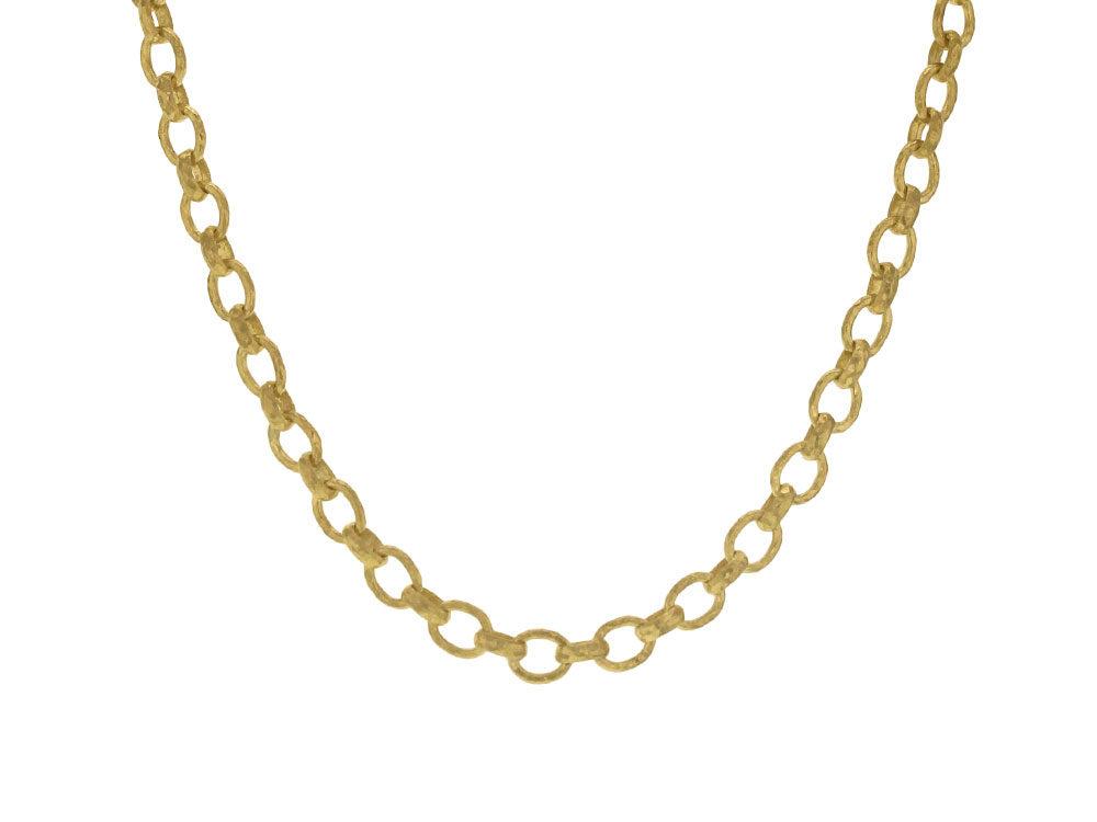Elizabeth Locke Cortina 19k Gold Link Necklace, 17L