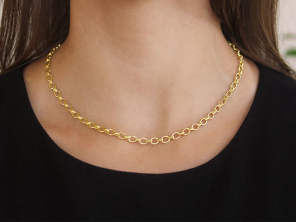 "Elizabeth Locke 17"" ""Cortina"" Link Necklace"
