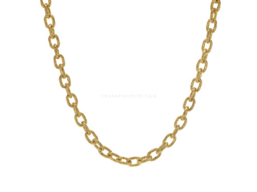 "Elizabeth Locke 17″ ""Orvieto"" Hammered Link Necklace"