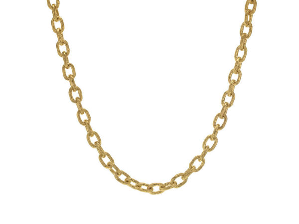 "Elizabeth Locke 17"" ""Orvieto"" Hammered Link Necklace thumbnail"