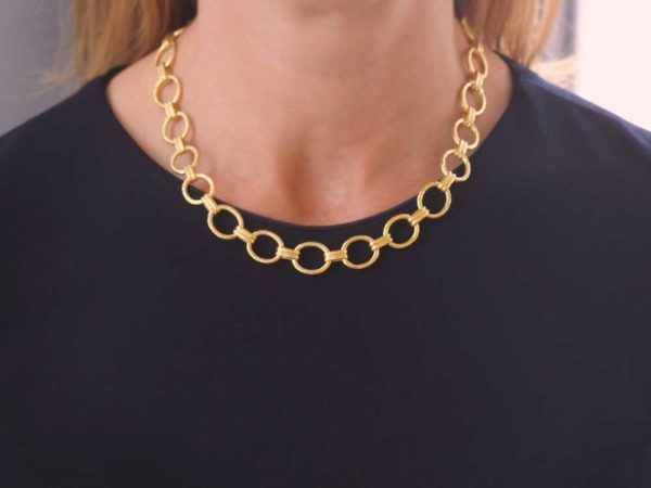 "Elizabeth Locke 17"" ""Rimini"" Link Necklace model shot #1"