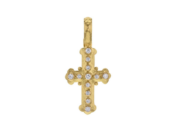 Elizabeth Locke Small Byzantine Diamond Cross Pendant thumbnail