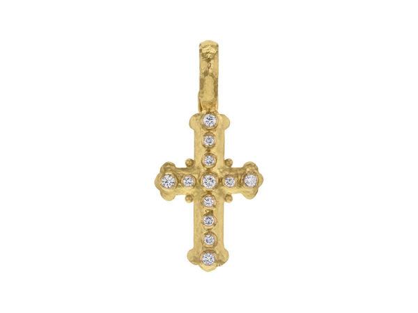Elizabeth Locke Small Byzantine Diamond Cross Pendant thumbnail