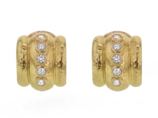 Elizabeth Locke Diamond Amalfi Hoop Earrings thumbnail