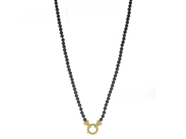 """Elizabeth Locke 35"""" """"Francesca"""" Clasp Necklace With 4mm Faceted Spinels model shot #4"""