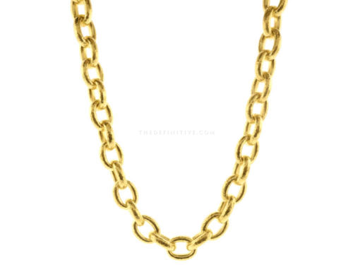 "Elizabeth Locke 17″ ""Ancona"" Link Necklace"