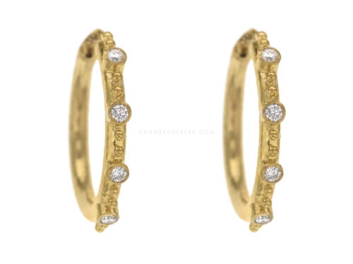 Elizabeth Locke Large Diamond Hoop Earrings