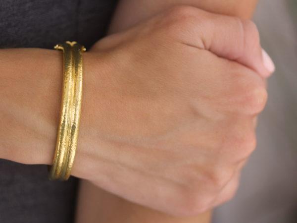 Elizabeth Locke Double Banded Bangle Bracelet