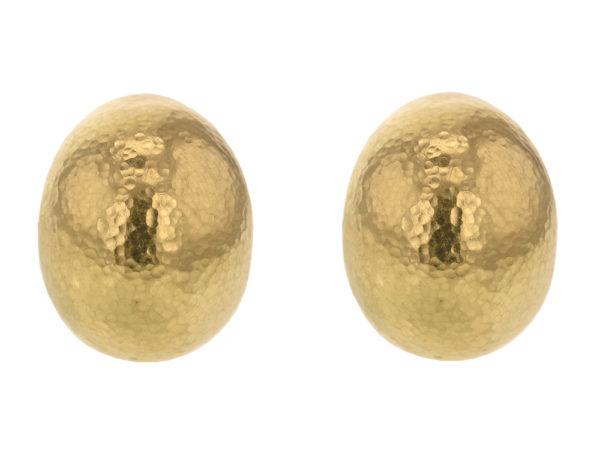 Elizabeth Locke Large Vertical Oval Earrings thumbnail
